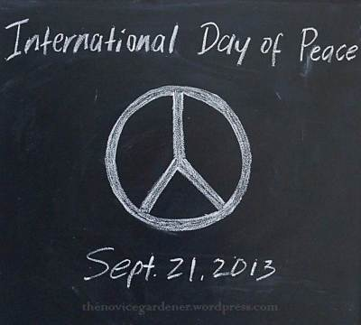 peace sign international day of peace
