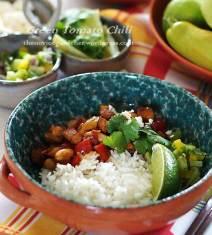 green tomato chili on rice