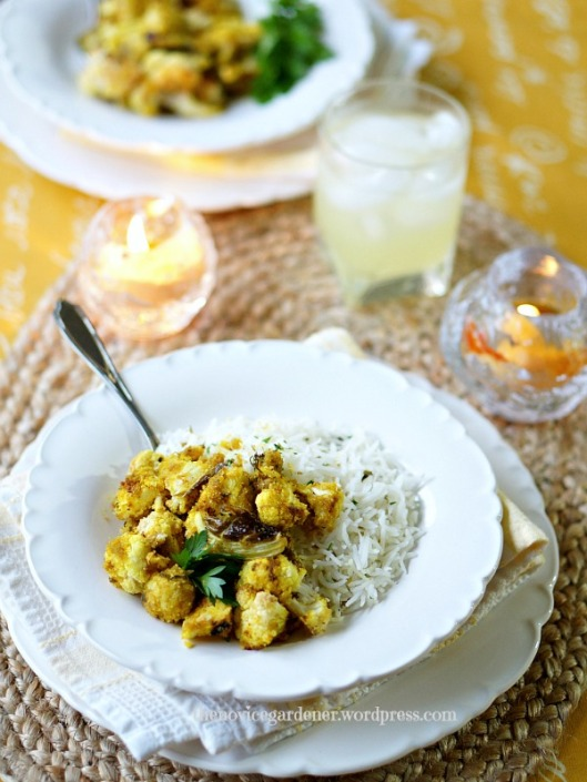 Lemon Basmati Rice and Roasted Cauliflower